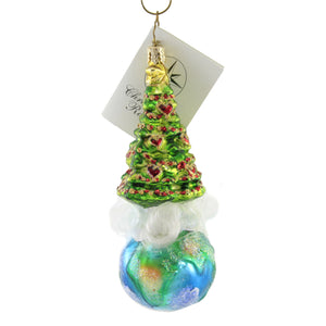Christopher Radko Christmas World Glass Ornament