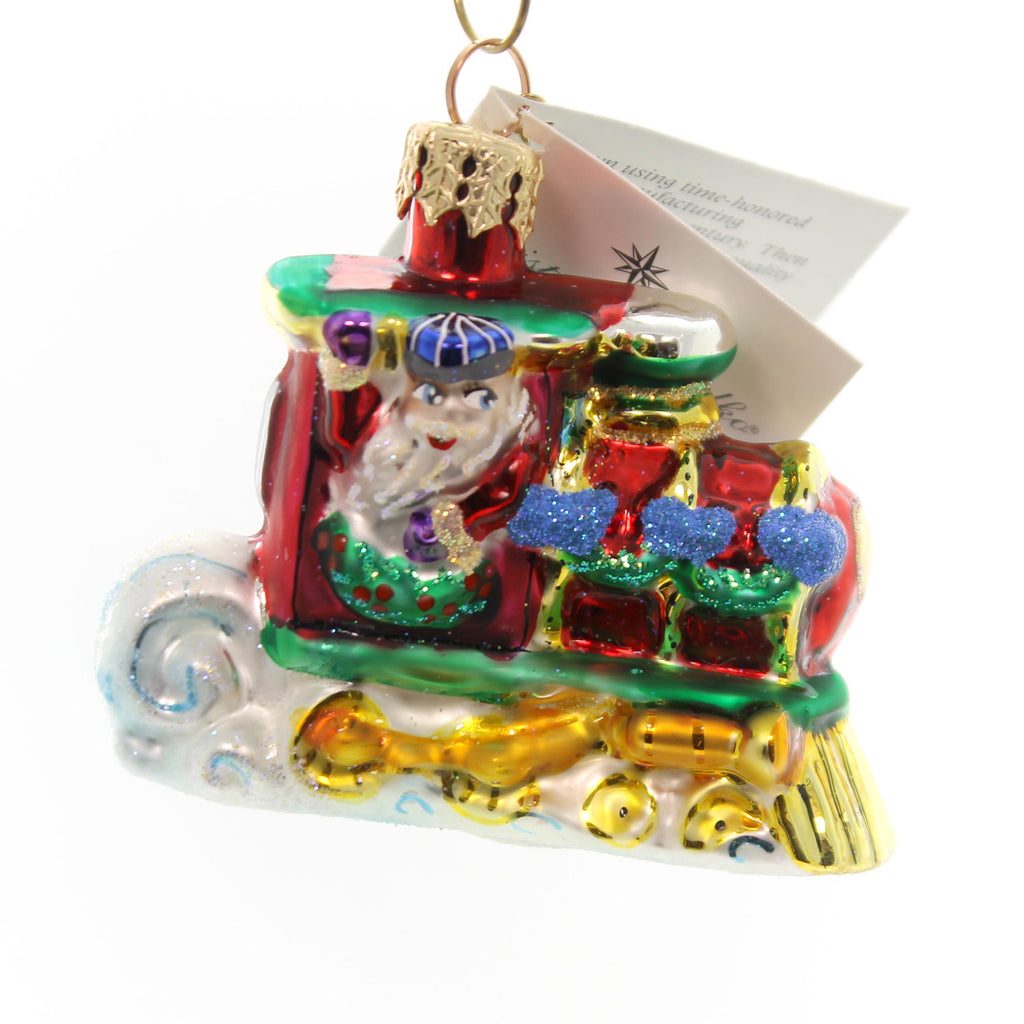 Christopher Radko North Pole Junction Gem Glass Ornament - SBKGifts ...