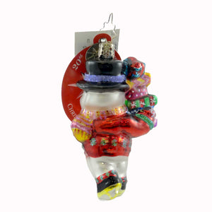 Christopher Radko Last Minute Shopper Gem Glass Ornament