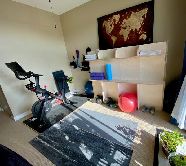 murphy bed home fitness center