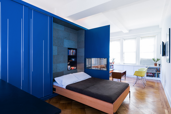 unfolding apartment with murphy bed