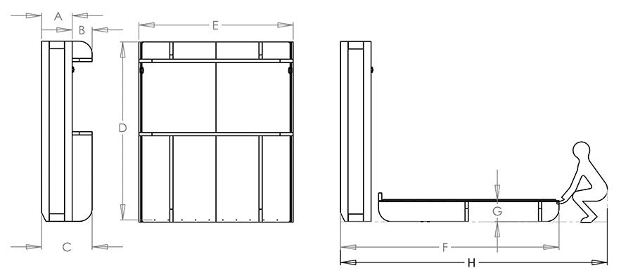 Bed Dimensions.The Lori Wall Bed Dimensions Lori Wall Beds