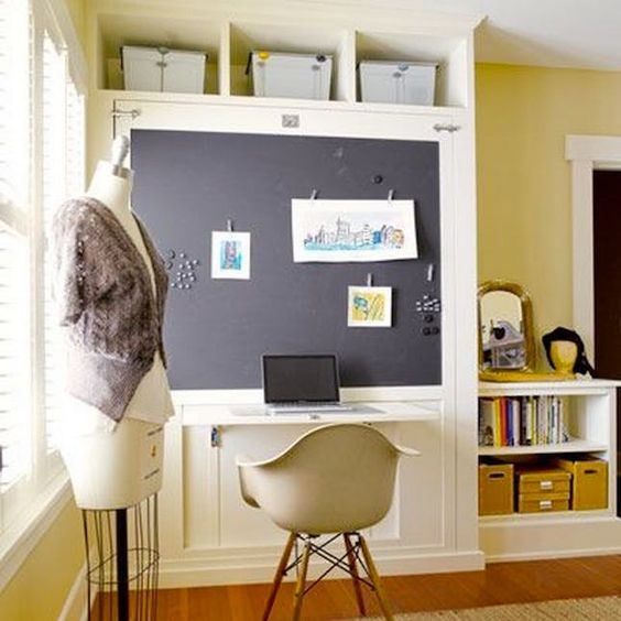 Murphy bed chalkboard paint