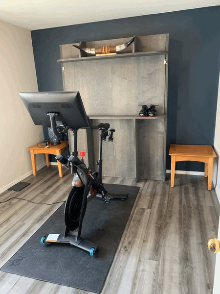 home gym with murphy bed