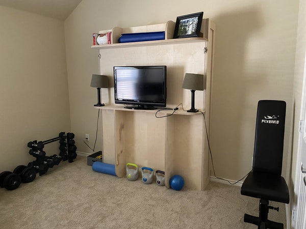 wall bed home gym