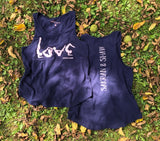 YOGA LOVE Tank in Navy/Pink Quartz