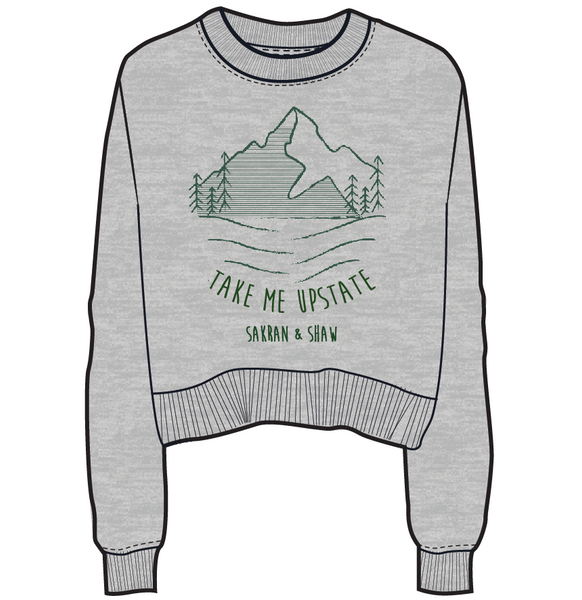 'Take Me Upstate' Sweatshirt Sticker