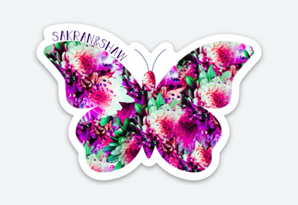 Butterfly Sticker - Pop Floral