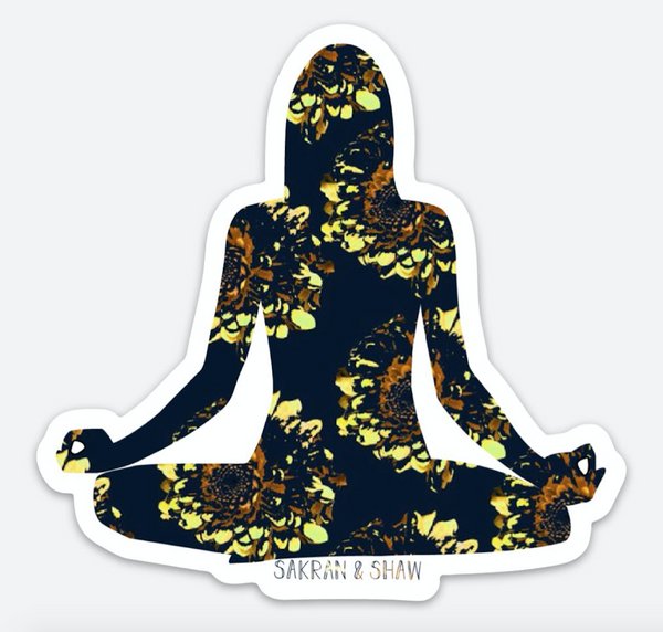 Inhale Exhale Sticker - Black Floral