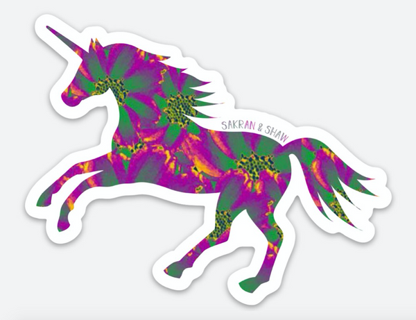 Unicorn Sticker - Pink & Green Pop