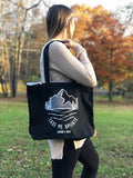Take Me Upstate Tote Bag in Black