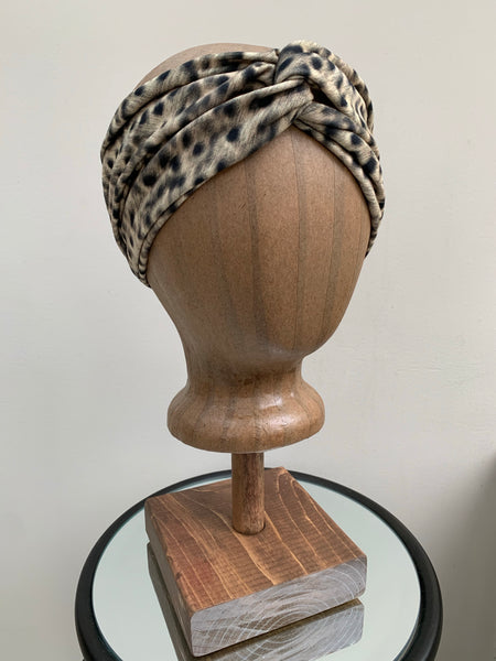 Turban Twist Headband in Leopard