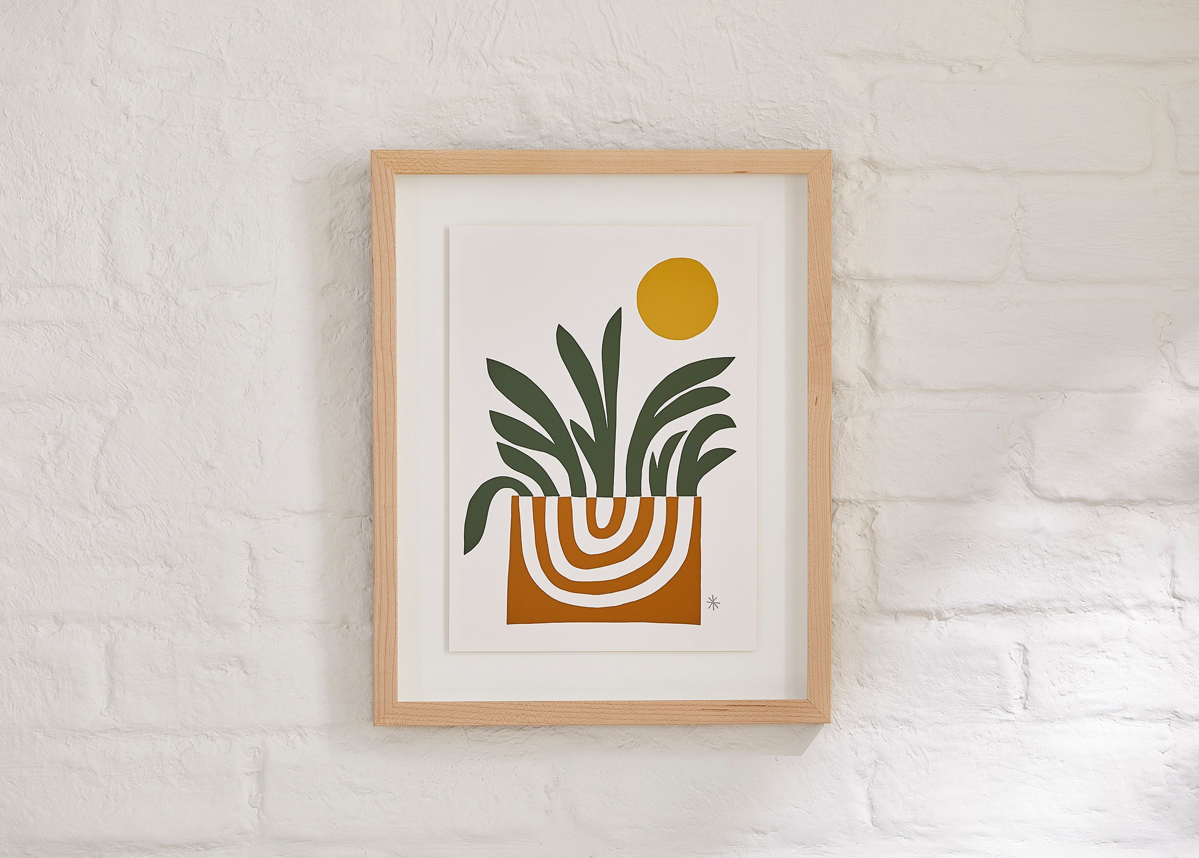 """""""Sprout"""" by CDR, selected for an Earthy Minimalist interior by Simply Framed founder, Dara Segal, and the team at Brooklinen"""