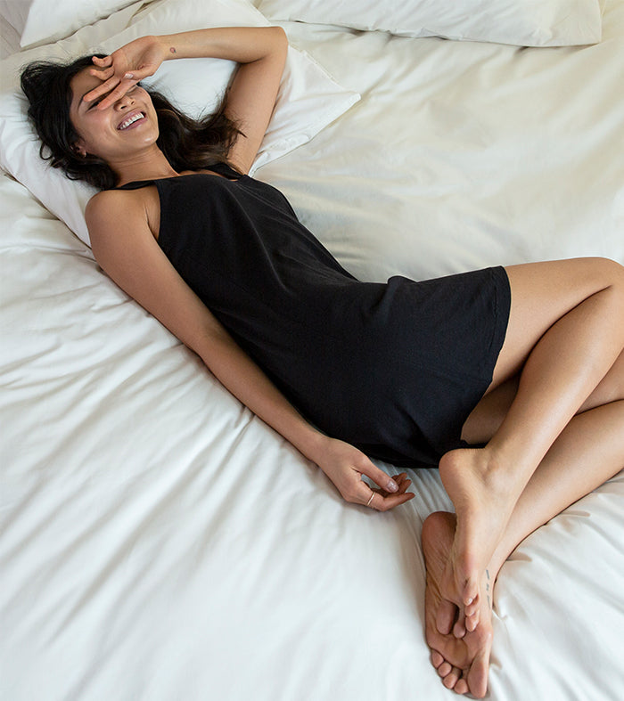 Our ultra-soft, cozy loungewear will make you feel like you never left bed. And you don't have to.
