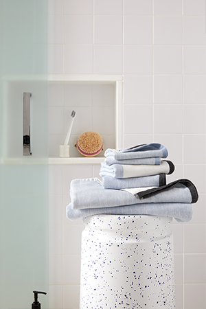 Melange Colorblock Hand Towels | ALIGN : RIGHT