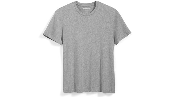 The Delancey Tee in Heather Gray
