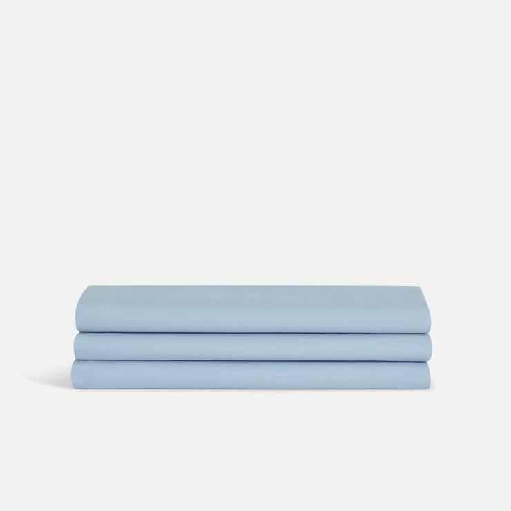 image of light blue folded sheets