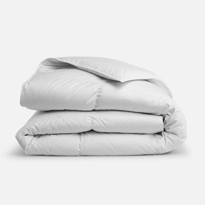 Folded, White Down Comforter