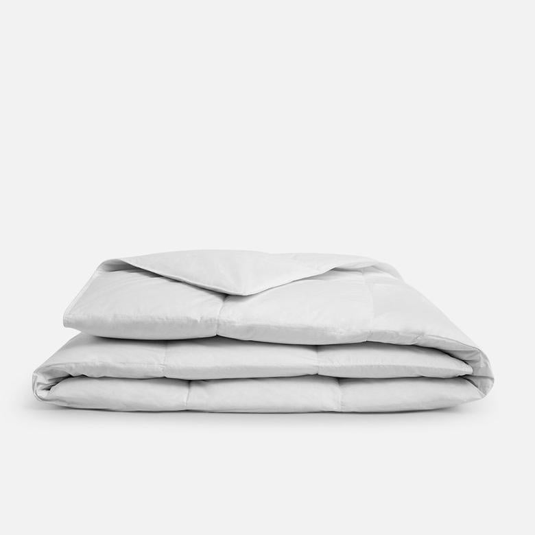 White Down Comforter Folded in Thirds