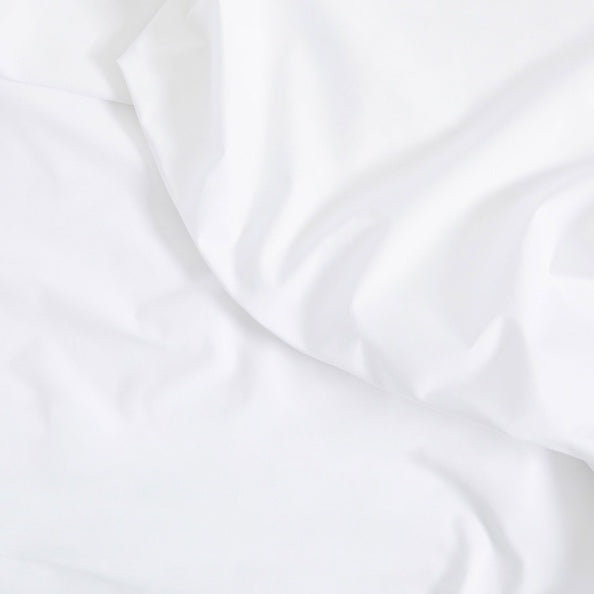 Ruffled White Sateen Sheets Detail