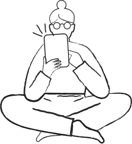 Illustration of Person Sitting Cross Legged