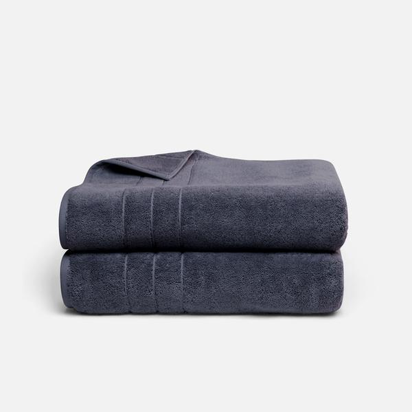 Stack of Super-Plush Bath Sheets in Graphite