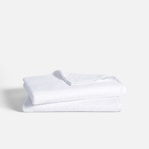 Stack of Ultralight Bath Sheets in White