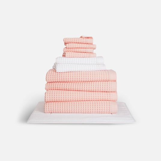 Stack of Waffle Towel Move-In Bundle