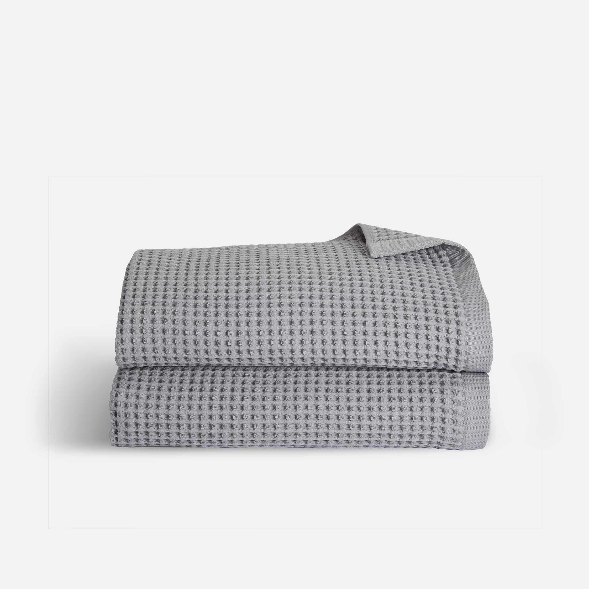 Stack of Waffle Towel Bath Sheets
