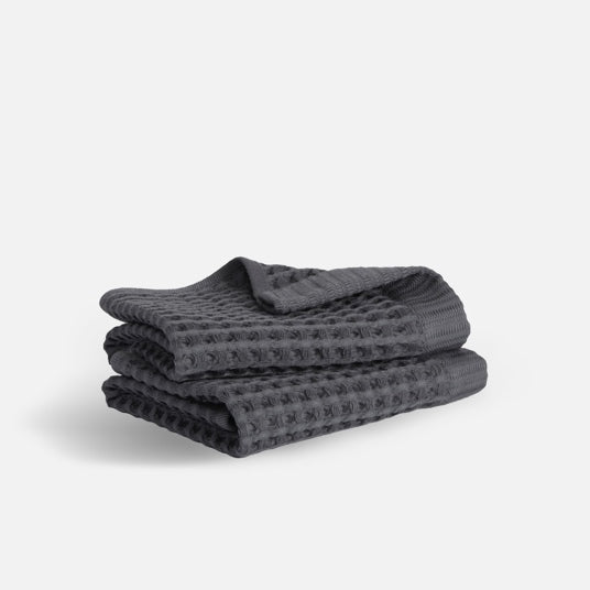 Stack of Waffle Towel Wash Cloths