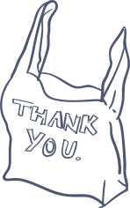 Illustration of a thank you bag