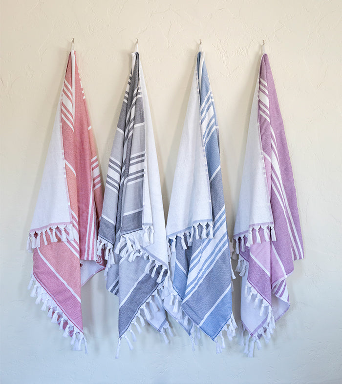 Lifestyle image of hammam towels