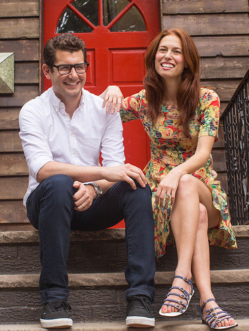 The founders of Brooklinen Rich and Viki Fulop