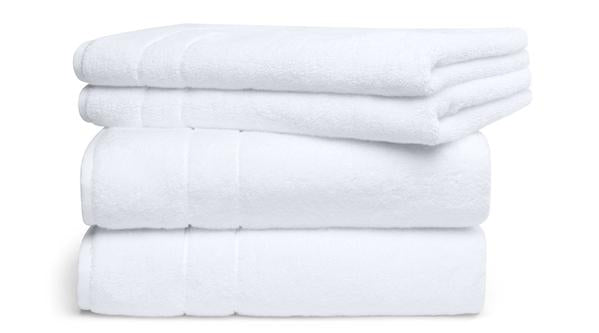 Super Plush Towel Set in White