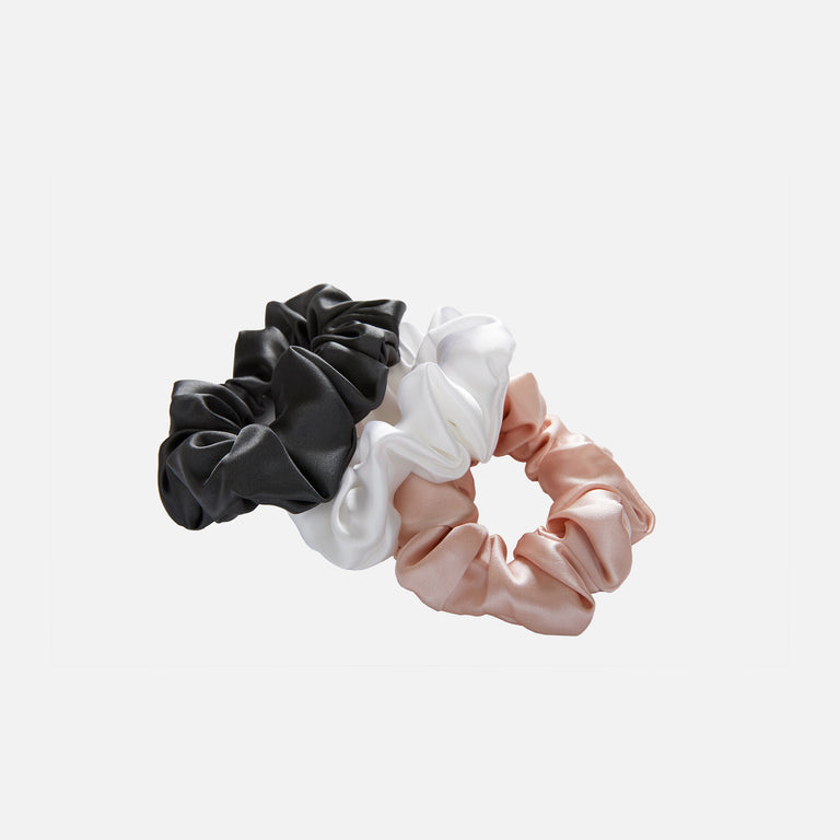 Large Silk Scrunchies - 3 Piece Set