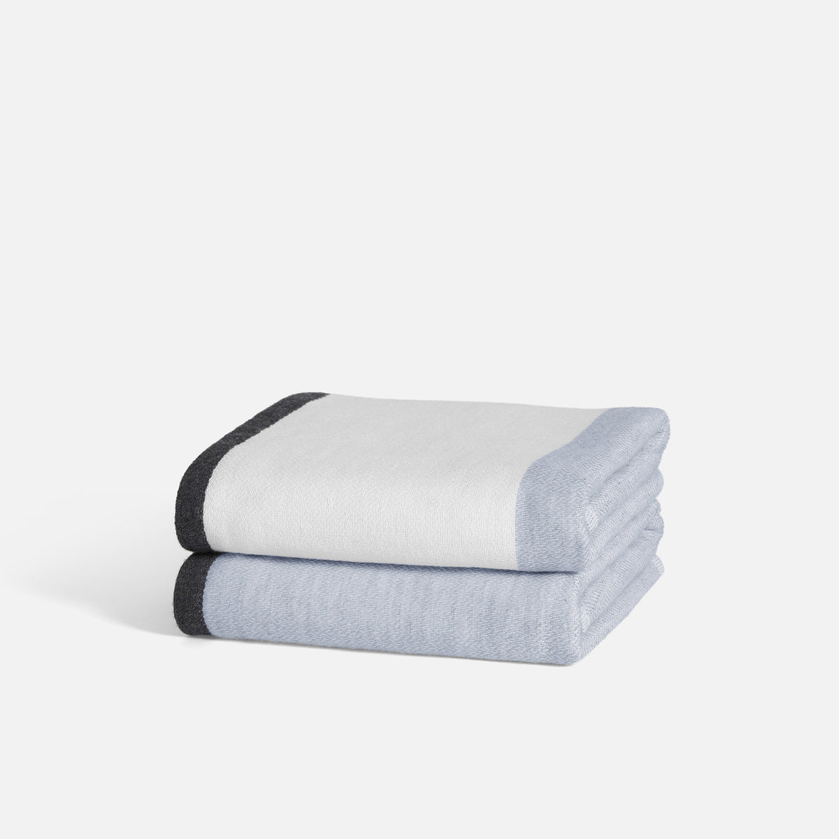 Melange Color-block Hand Towels / Lake Blue