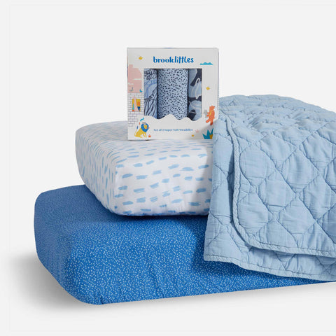 Shown in Cool Blue Baby Bundle