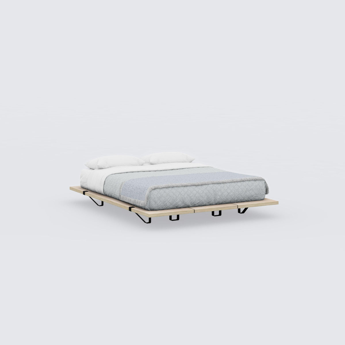 The Floyd Platform Bed / Birch and Black