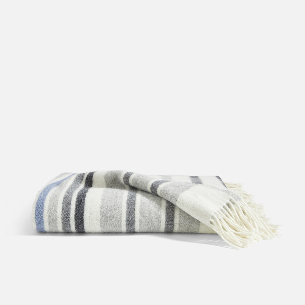 Throw Blanket - Lambswool Throw in Stripe