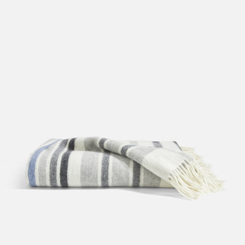 Shown in Lambswool Throw in Stripe