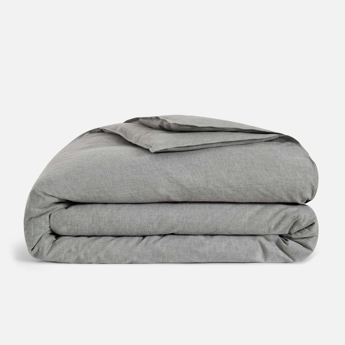 Heathered Cashmere Duvet Cover / Charcoal