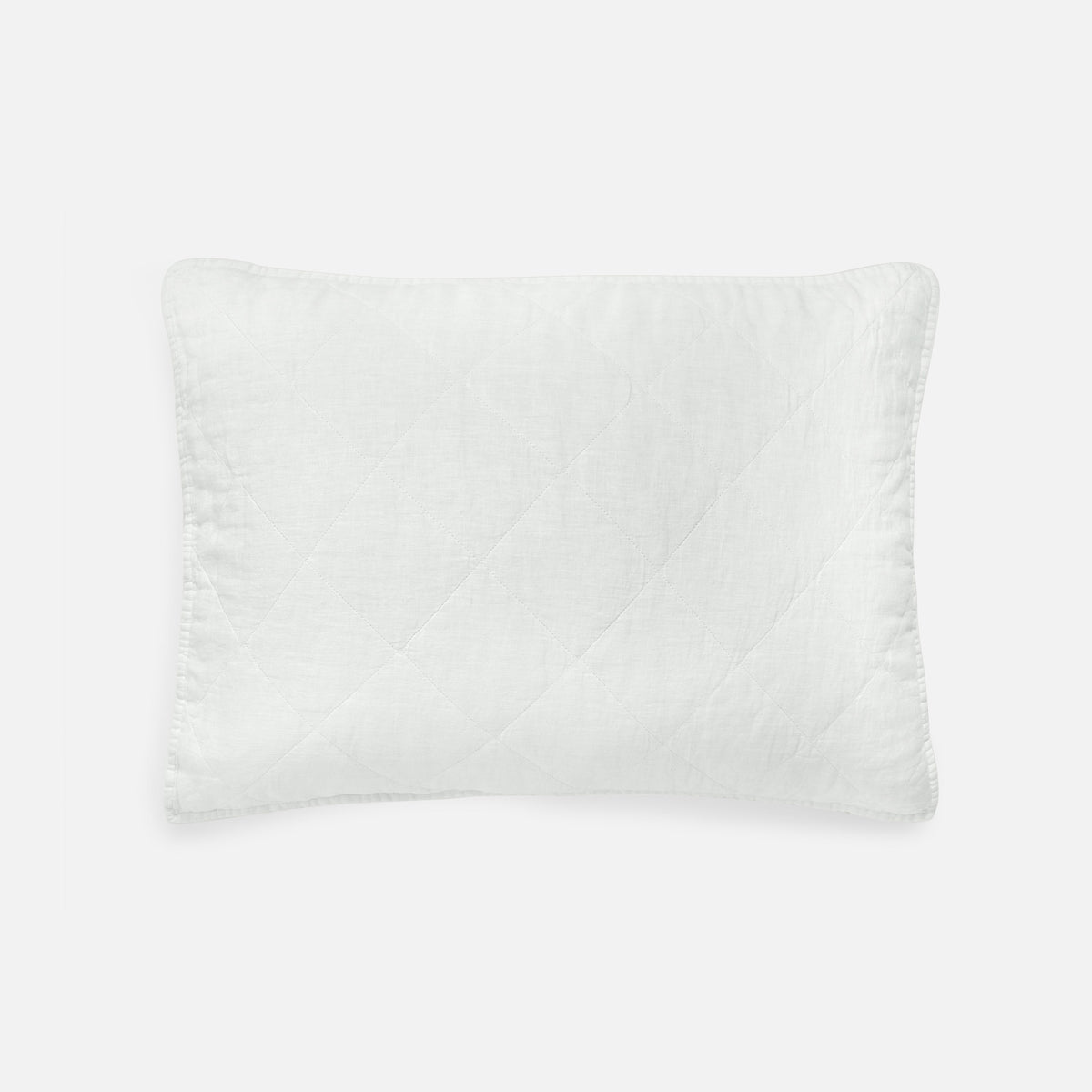 Linen Quilted Shams / White Diamond