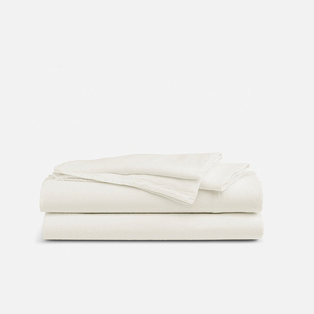 Linen Core Sheet Set - Cream / Queen