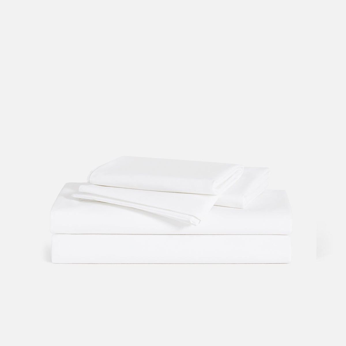 Luxe Split King Sheet Set / Solid White