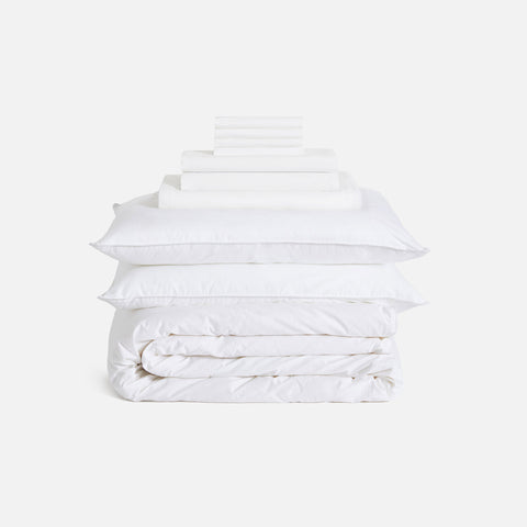 Shown in Solid White / Luxe Move-In Bundle