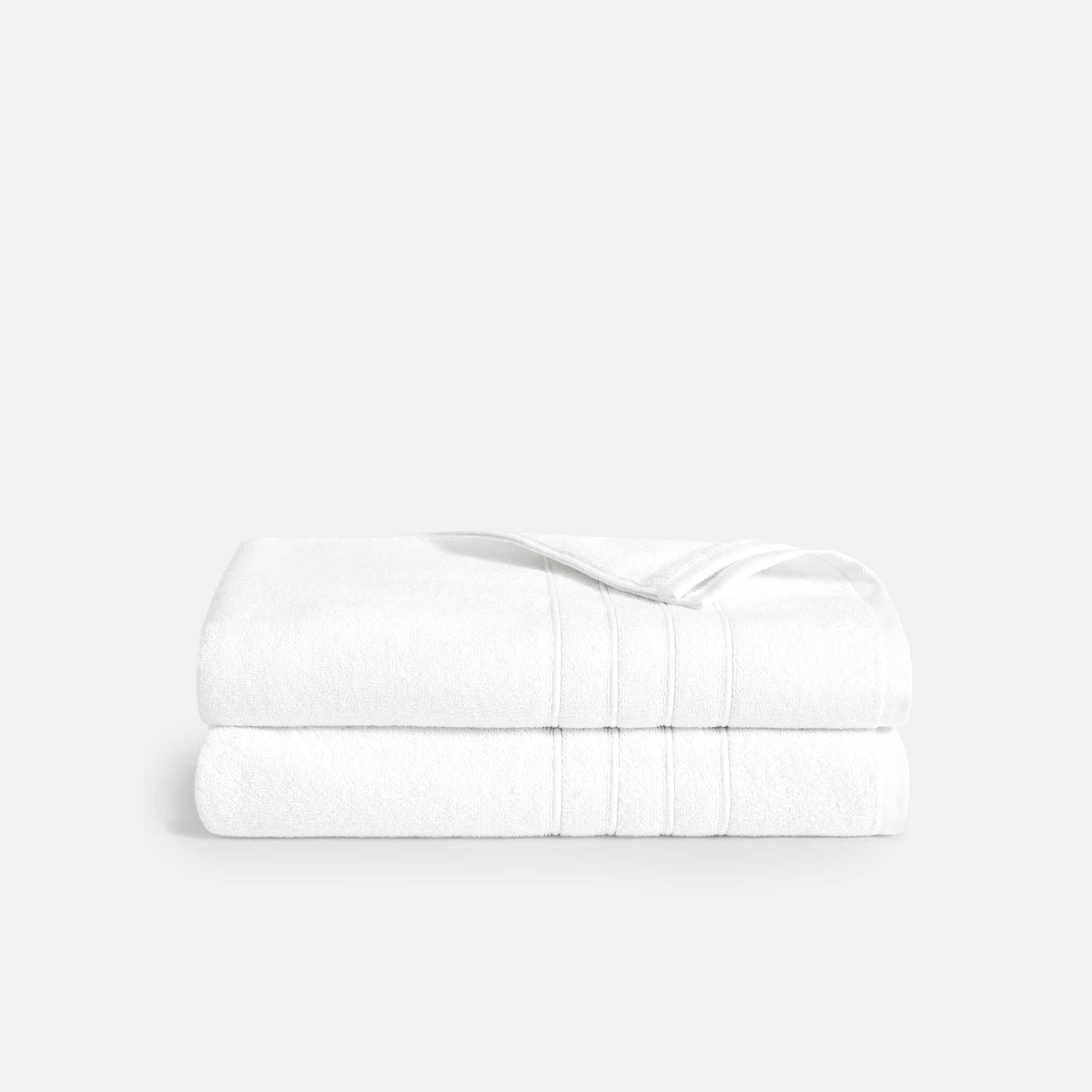 Mid-Plush Bath Sheets / White