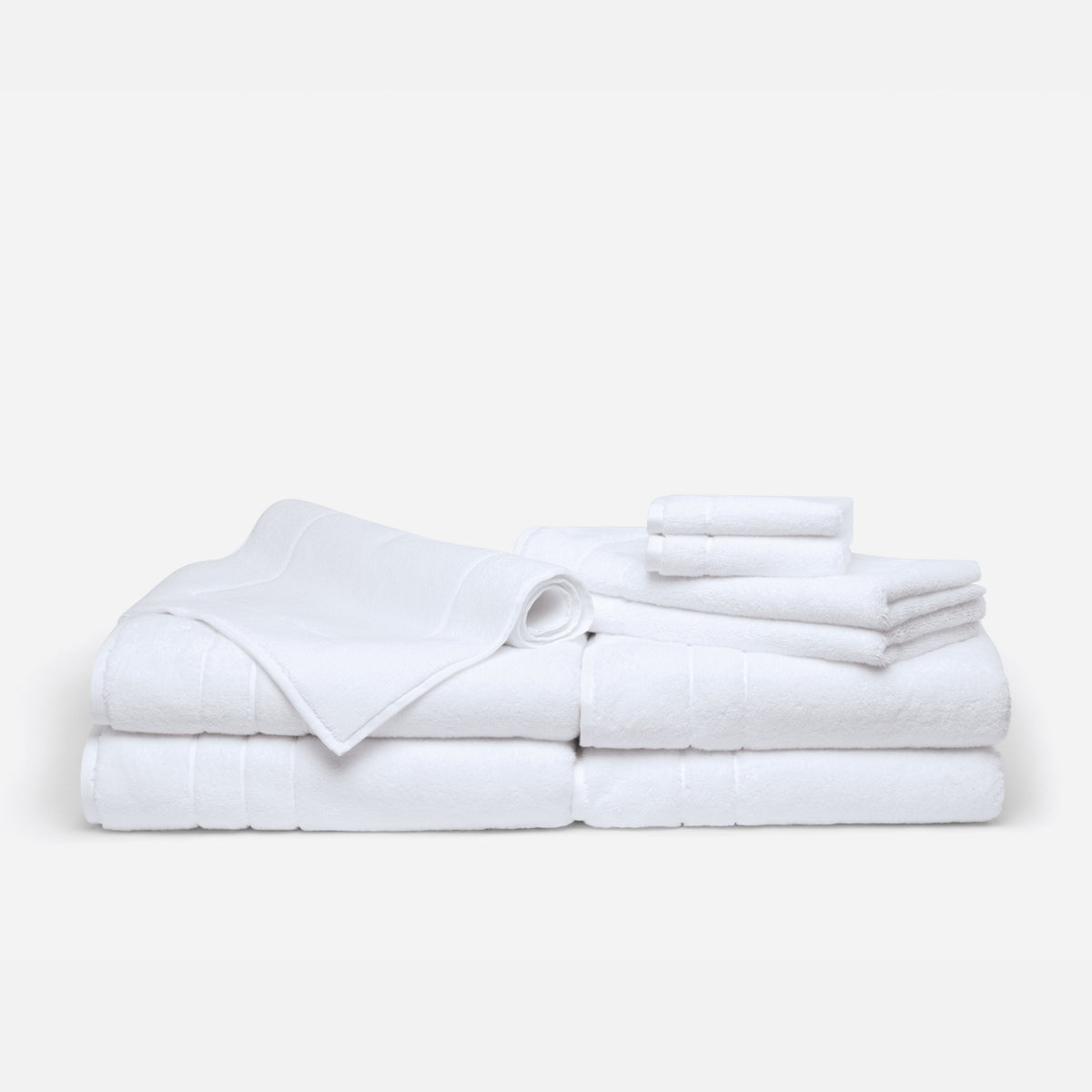 Super-Plush Complete Towel Set / White