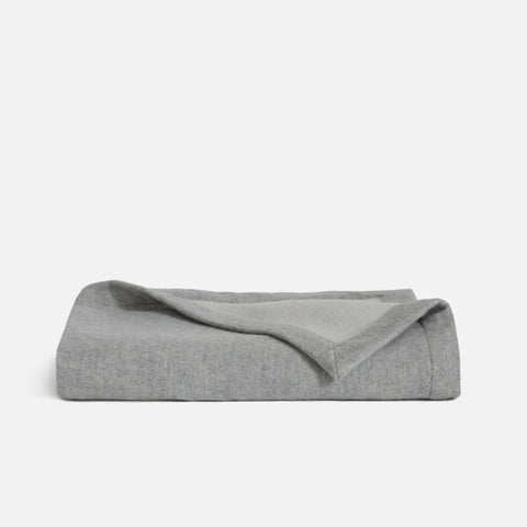 Shown in Cashmere and Lambswool Throw in Grey