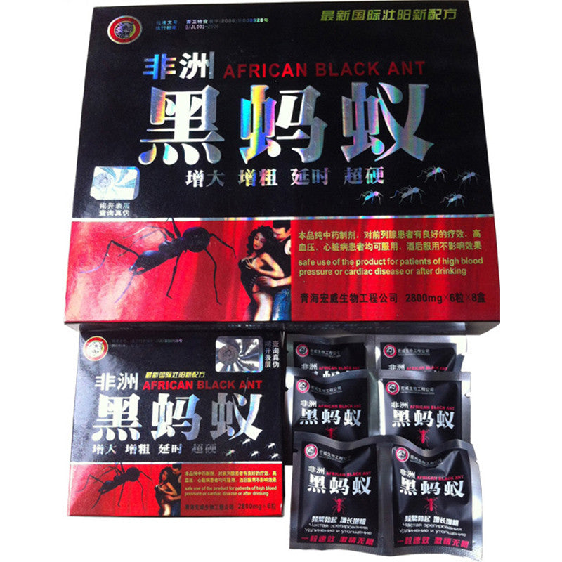 African Black Ant Box - 8Ctbox 48 Pills Total  Cost Kings - Free Shipping Sitewide-1499
