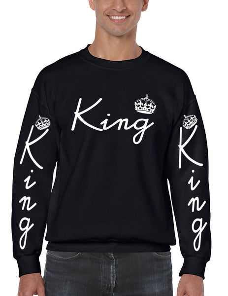 King with crown men sweatshirt - ALLNTRENDSHOP - 5